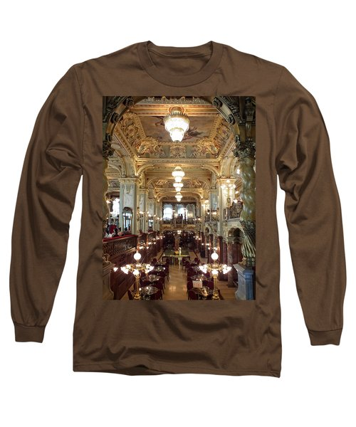 Meet Me For Coffee - New York Cafe - Budapest Long Sleeve T-Shirt