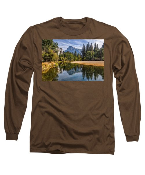 Merced River View II Long Sleeve T-Shirt by Peter Tellone