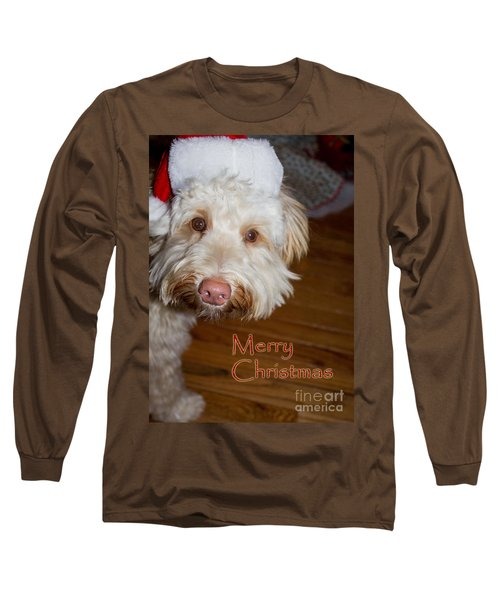 Merry Christmas From A Labrdoodle Card Long Sleeve T-Shirt