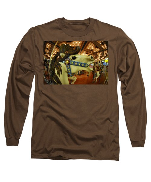 Merry Go Round Long Sleeve T-Shirt by Sami Martin