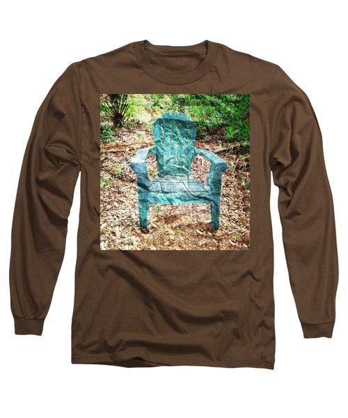 Mi Silla De Papel  Long Sleeve T-Shirt by Carlos Avila