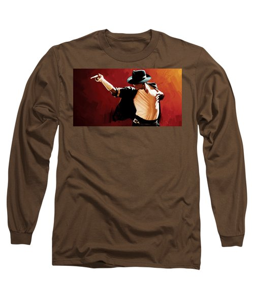 Michael Jackson Artwork 4 Long Sleeve T-Shirt by Sheraz A
