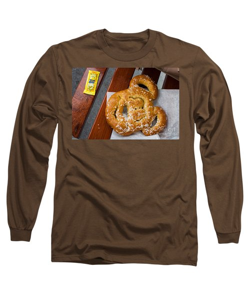 Mickey Mouse Shaped Pretzel Long Sleeve T-Shirt