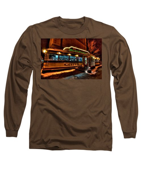 Mickey's Diner St Paul Long Sleeve T-Shirt by Amanda Stadther