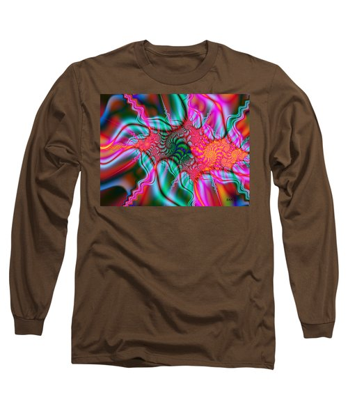 Long Sleeve T-Shirt featuring the digital art Migraine by Elizabeth McTaggart