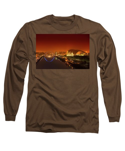 Millenium Bridge And The City Long Sleeve T-Shirt