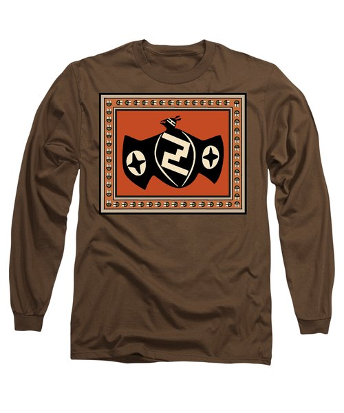 Long Sleeve T-Shirt featuring the digital art Mimbres Tribal Bat Spirit by Vagabond Folk Art - Virginia Vivier
