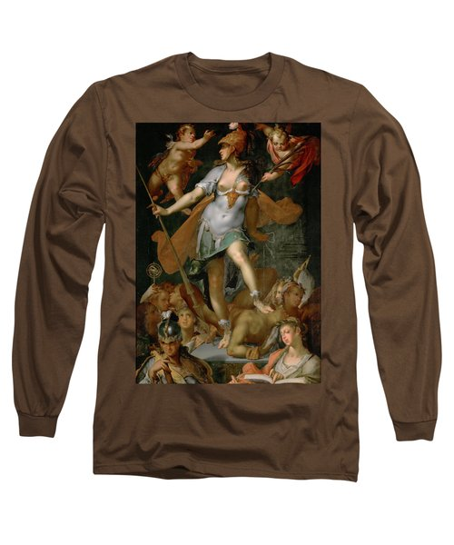 Minerva Victorious Over Ignorance Long Sleeve T-Shirt