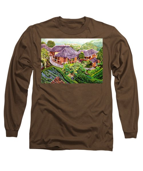 Long Sleeve T-Shirt featuring the painting Mini Paradise by Belinda Low