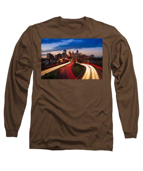 Minneapolis  M N Skyline Long Sleeve T-Shirt