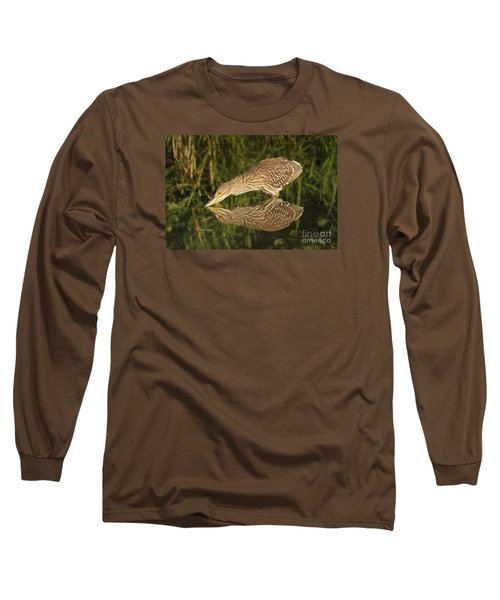 Mirror Mirror On The Wall Who Is The Fairest Heron Of All Long Sleeve T-Shirt by Heather King