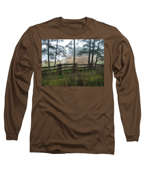 Misty Flats Long Sleeve T-Shirt by Cheryl Hoyle