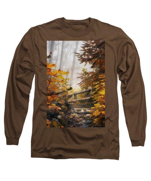 Misty Footbridge Long Sleeve T-Shirt