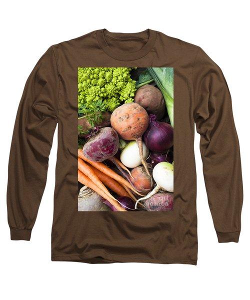 Mixed Veg Long Sleeve T-Shirt by Anne Gilbert