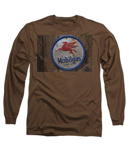 Mobil Gas Sign Long Sleeve T-Shirt