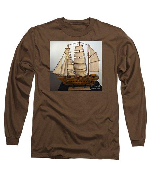 Model Sailing Ship Long Sleeve T-Shirt
