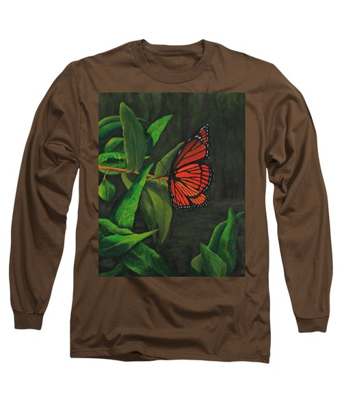 Viceroy Butterfly Oil Painting Long Sleeve T-Shirt