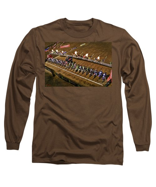 Monster Energy Ama Supercross  450sx Main Long Sleeve T-Shirt