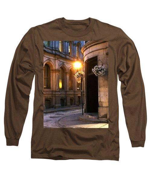 Montreal Night Long Sleeve T-Shirt by Steve Archbold