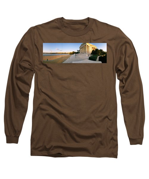 Monument At The Riverside, Jefferson Long Sleeve T-Shirt by Panoramic Images