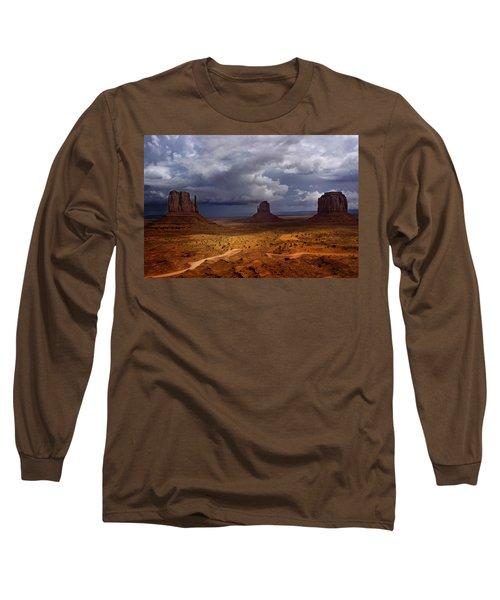 Monuments Of The West Long Sleeve T-Shirt by Ellen Heaverlo