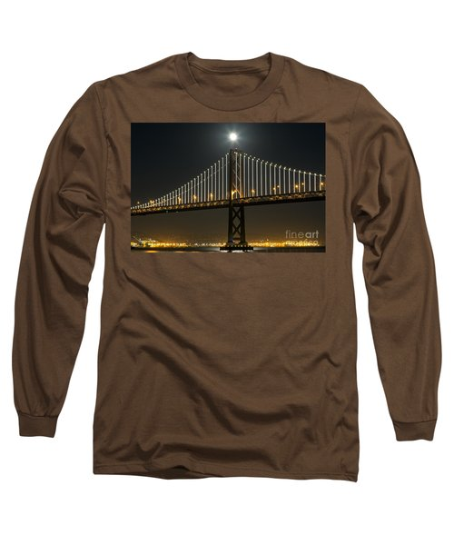 Long Sleeve T-Shirt featuring the photograph Moon Atop The Bridge by Kate Brown
