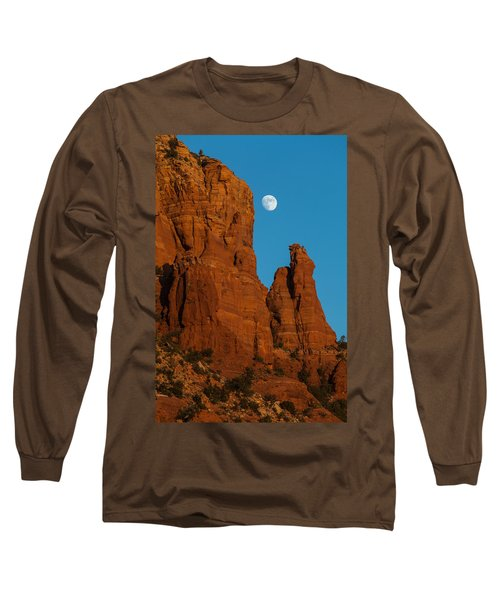 Moon Over Chicken Point Long Sleeve T-Shirt by Ed Gleichman