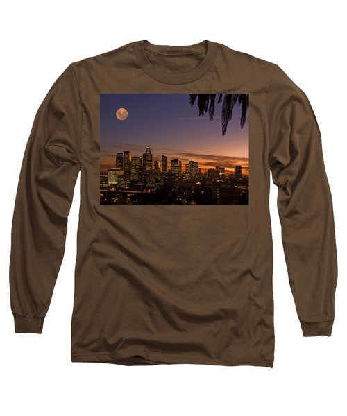 Moon Over L.a. Long Sleeve T-Shirt