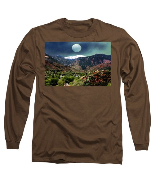 Long Sleeve T-Shirt featuring the photograph Moon Over Manitou I by Lanita Williams