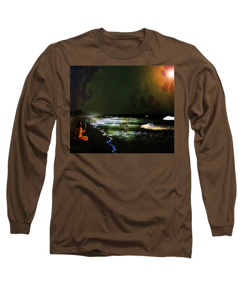 Moonlight Gives Girl Hope In The Darkness Long Sleeve T-Shirt