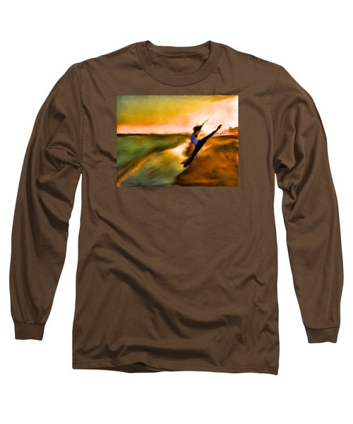 Long Sleeve T-Shirt featuring the mixed media Moose In Law by Terence Morrissey