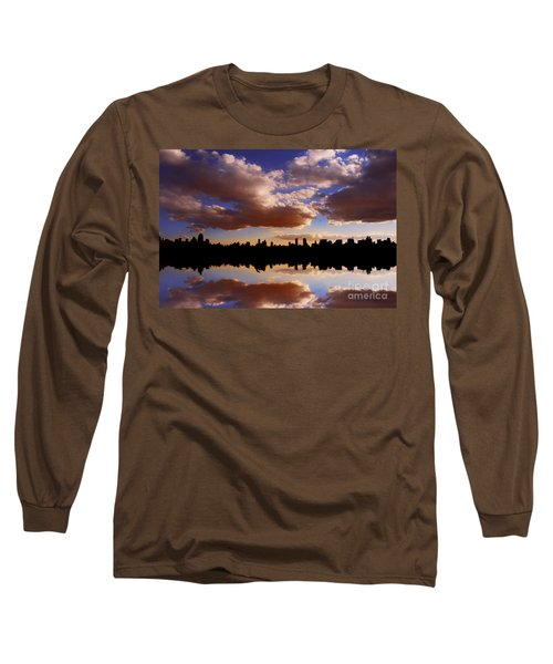 Morning At The Reservoir New York City Usa Long Sleeve T-Shirt