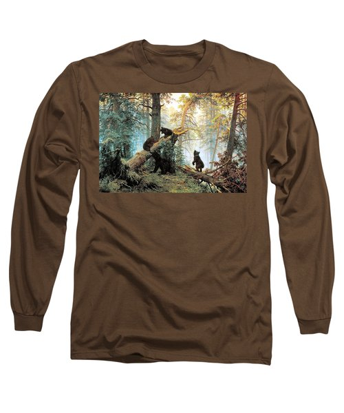 Morning In A Pine Forest Long Sleeve T-Shirt