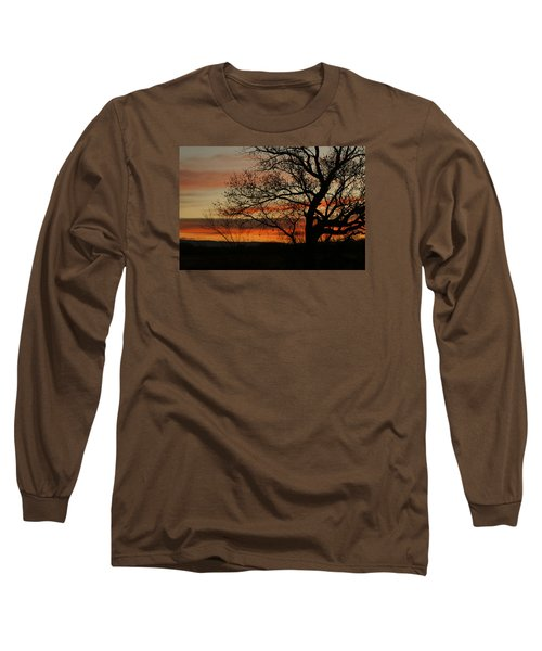 Morning View In Bosque Long Sleeve T-Shirt