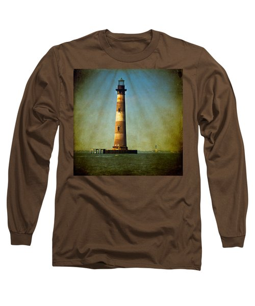 Morris Island Light Color Vintage Long Sleeve T-Shirt