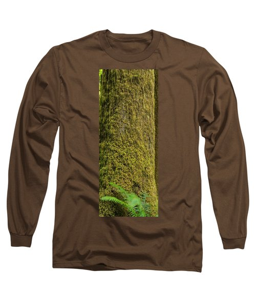 Moss Covered Tree Olympic National Park Long Sleeve T-Shirt