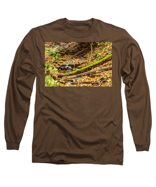 Mossy Log And Stream Long Sleeve T-Shirt