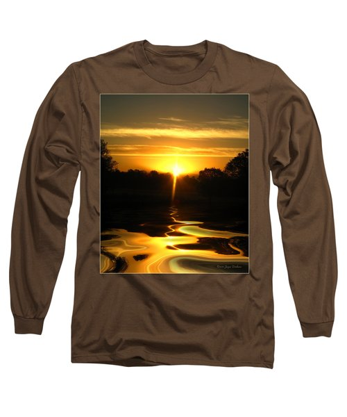 Mount Lassen Sunrise Gold Long Sleeve T-Shirt
