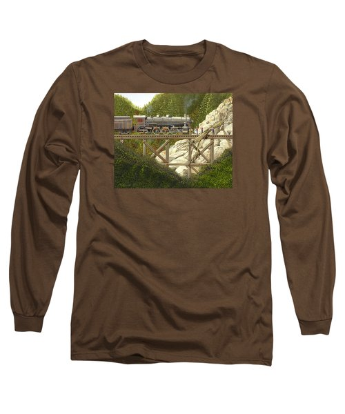 Long Sleeve T-Shirt featuring the painting Mountain Impasse by Gary Giacomelli