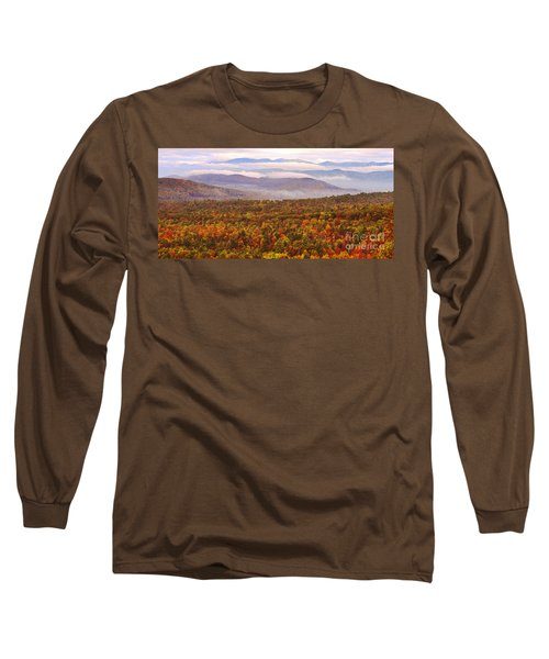 Mountain Mornin' In Autumn Long Sleeve T-Shirt by Lydia Holly