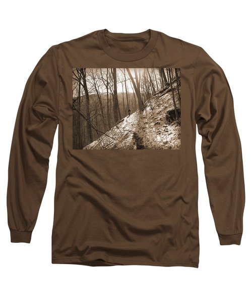 Mountain Side Long Sleeve T-Shirt by Melinda Fawver