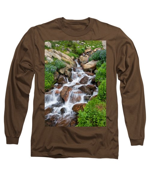 Long Sleeve T-Shirt featuring the photograph Mountain Stream by Ronda Kimbrow