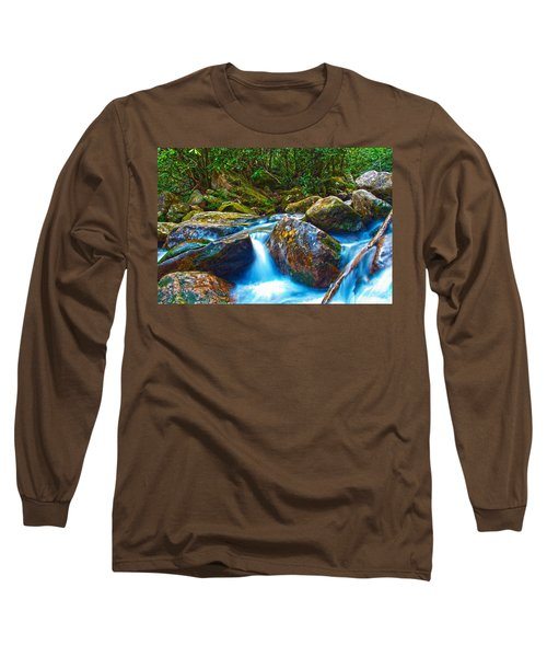 Long Sleeve T-Shirt featuring the photograph Mountain Streams by Alex Grichenko