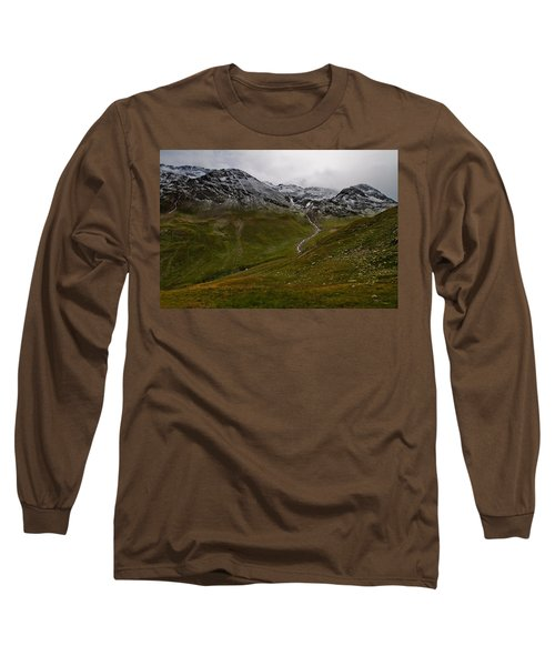 Mountainscape With Snow Long Sleeve T-Shirt