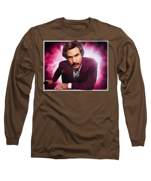Mr. Ron Mr. Ron Burgundy From Anchorman Long Sleeve T-Shirt