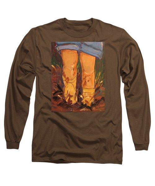 Mud Puddle Fun Long Sleeve T-Shirt by Terri Einer