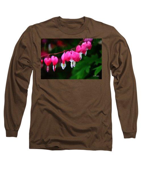 Long Sleeve T-Shirt featuring the photograph My Bleeding Heart by Davandra Cribbie