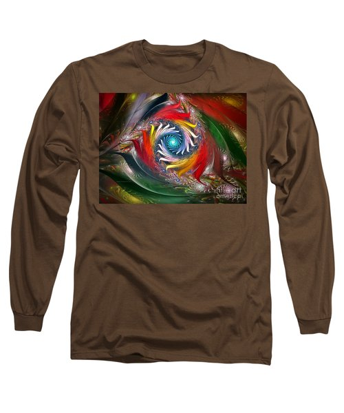My My Beautiful Laundrette-fractal Art Long Sleeve T-Shirt