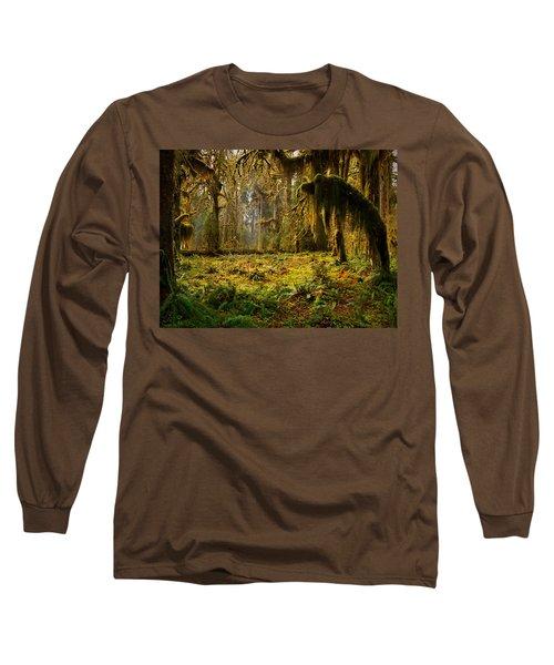 Mystical Forest Long Sleeve T-Shirt by Leland D Howard