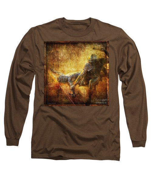 Nailed To The Cross Via Dolorosa 11 Long Sleeve T-Shirt by Lianne Schneider